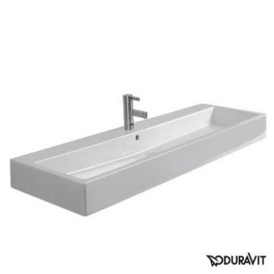 Керамическая раковина 120 см Duravit Vero, белая 0454120027
