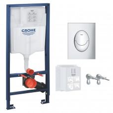 Инсталляция GROHE Rapid SL 3 в 1 39503000 c панелью смыва Skate Air S 37965000 хром