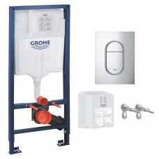 Инсталляция GROHE Rapid SL 3 в 1 39504000 c панелью смыва Arena S 37624000 хром