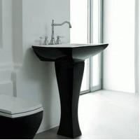 Керамическая раковина 70 см Artceram Jazz, white glossy/black bicolor (JZL004 01;50)
