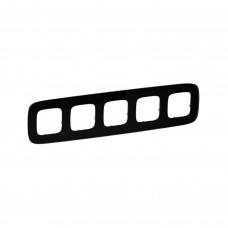 Пятипостовая рамка LEGRAND Valena Allure Черное стекло (755535)