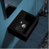 Керамическая раковина 43 см Simas Frozen, nero glossy FZ 14
