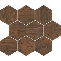 Плитка Opoczno Finwood Ochra Mosaic Hexagon декор 10×280×337