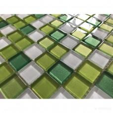 Мозаика Керамика Полесье GLANCE GREEN MIX мозаика