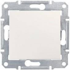 1-клавишный выключатель Schneider Sedna Кремовый (SDN0100123)