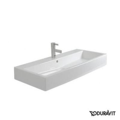 ⇨ Раковины | Керамическая раковина 80 см Duravit Vero, белая 0454800027 в интернет-магазине ▻ TILES ◅