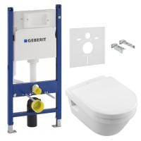 Комплект инсталляция GEBERIT Duofix с унитазом Villeroy & Boch Architectura Direct Flush и сидением soft-close 5684HR01+458.126.00.1