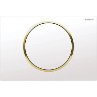 Клавиша смыва Geberit Sigma10, белая/золото 115.758.KK.5
