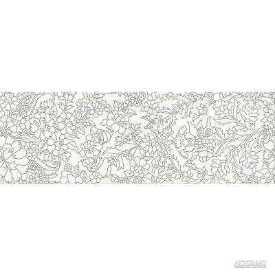 Плитка Opoczno Pret-a-Porter WHITE INSERTO FLOWER декор 10×750×250