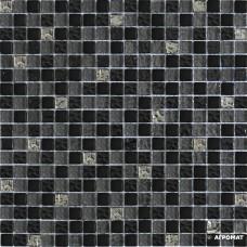 Мозаика Grand Kerama 2121 микс серо-черный 6×300×300