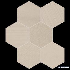 Керамогранит Impronta Sands Experience SA02ESM BEIGE ESAGONA MIx