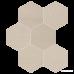 Керамогранит Impronta Sands Experience SA02ESM BEIGE ESAGONA MIx 10×225×195