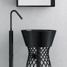 Керамическая раковина 43 см Artceram Wire, black (WIL001 03;00)