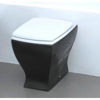 Напольный унитаз Artceram Jazz (JZV002 01;50) white glossy/black bicolor
