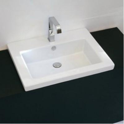 Керамическая раковина 59 см Artceram Gap, white glossy (GPL006 01;00)