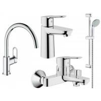 Набор смесителей для ванны Grohe Bauedge 123218K 4 в 1