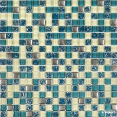 Мозаика Grand Kerama 2083 микс тифани-бирюза-охра 6×300×300