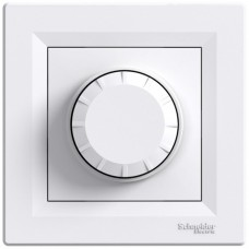 Светорегулятор 600Вт с подсветкой Schneider Asfora Белый (EPH6500121)