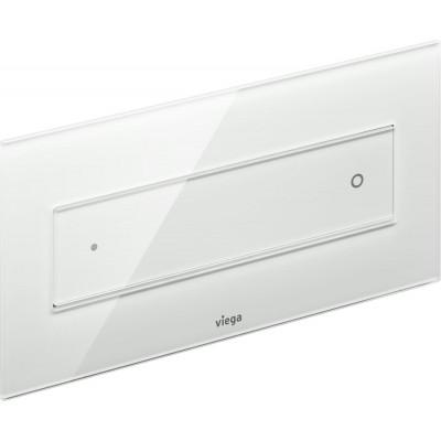 ⇨ Кнопки смыва для инсталляции | Клавиша смыва Viega Visign for Style 12 модель 8332.1, стекло прозр./светло-серый 687854 в интернет-магазине ▻ TILES ◅