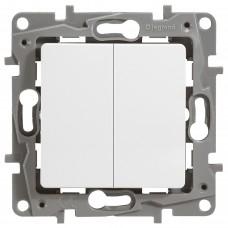 2-клавишный выключатель LEGRAND Etika Белый (672202)