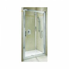 GEO 6 двери раздвижные 2-элементные 160 см, закаленное стекло, серебряный блеск кабина состоит из частей 1/2 +2/2