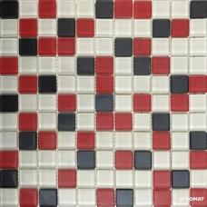 Мозаика Керамика Полесье Glance Red Graphite мозаика