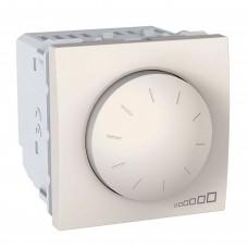 Светорегулятор поворотно-нажимной Schneider Unica 40-400W Кремовый (MGU3.511.25)