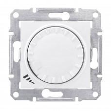 Светорегулятор поворотно-нажимной проходной емкостной Schneider Sedna Белый (SDN2200921)