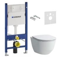 Инсталляция GEBERIT Duofix 458.126.00.1 + унитаз LAUFEN Pro Rimless H866957 с сиденьем Slim Soft Close