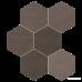 Керамогранит Impronta Sands Experience SA05ESM MUD ESAGONA MIx 10×225×195