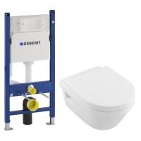 Комплект инсталляция GEBERIT Duofix с унитазом Villeroy & Boch Architectura и сидением soft-close 5684H101+458.126.00.1