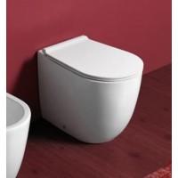 Унитаз пристенный безободковый Simas Vignoni в комплекте с крышкой (VI01 + F88 + VI004)
