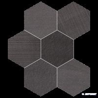 Керамогранит Impronta Sands Experience SA06ESM BLACK ESAGONA MIx
