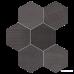 Керамогранит Impronta Sands Experience SA06ESM BLACK ESAGONA MIx 10×225×195