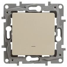 1-клавишный выключатель LEGRAND Etika с подсветкой Кремовый (672303)