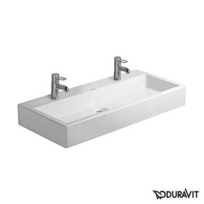 Керамическая раковина 100 см Duravit Vero, белая 0454100072