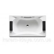 Ванна акриловая 180*90см ROCA BECOOL A248013001 с ножками ручками и подголовником