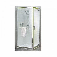 GEO 6 двери pivot 80 см, закаленное стекло PRISMATIC, серебряный блеск