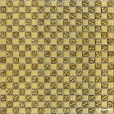 Мозаика Grand Kerama 443 шахматка рельефное золото-золотой песок