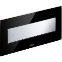 Клавиша смыва Viega Visign for Style 12 модель 8332.1, стекло парсоль/черный, клавиша хром 690632