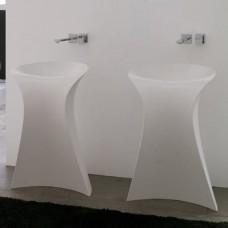 Каменная раковина 57 см Artceram Miss, white (OSL012 01;00)