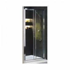 GEO 6 двери раздвижные 100 см, закаленное стекло PRISMATIC, серебряный блеск