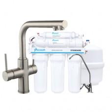 Смеситель для кухни Imprese Daicy с 5-ти ступенчатой системой обратного офсмоса Ecosoft Standart (55009S-F+MO550ECOSTD)