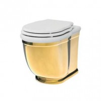 Напольный унитаз Artceram Hermitage (HEV005 01;56) white glossy/gold bicolor