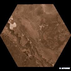 Напольная плитка Goldencer Moon MARRON 8×370×320