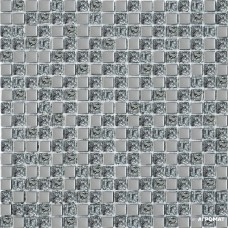 Мозаика Grand Kerama 1078 платина микс рифленая 6×300×300