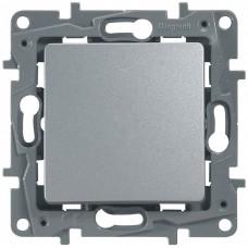 1-клавишный выключатель LEGRAND Etika самозажимной Алюминий (672401)