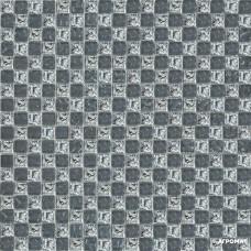 Мозаика Grand Kerama 647-Шахматка (рельефная, платина - рельефная серая)