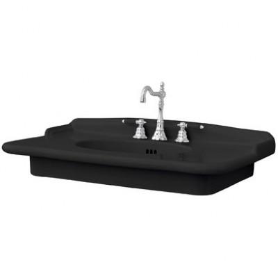 Керамическая раковина 92 см Artceram Hermitage, black glossy (HEL005 03;00)