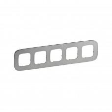 Пятипостовая рамка LEGRAND Valena Allure Светлая сталь (755505)